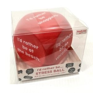 Stress Ball Red Dice I'd Rather Be Squeeze to Calm